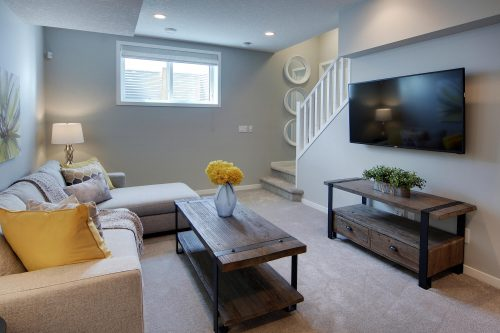 Huxley Model Basement In Cranston Riverstone