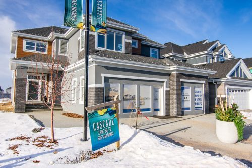 Cascade Showhome Exterior In Lake Summerside