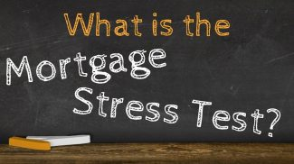 Chalkboard with text: What is the Mortgage Stress Test?