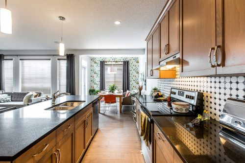Burton Showhome Kitchen In Solstice