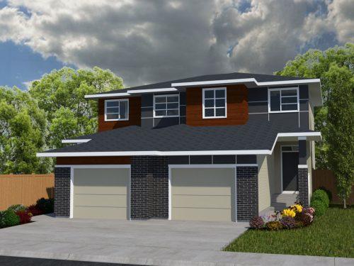 Brooks Exterior Model Home In Seton