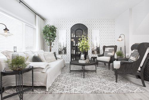 Vivid Living Room In Seton