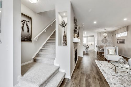 Rowan II Stairway And Living Room In Seton